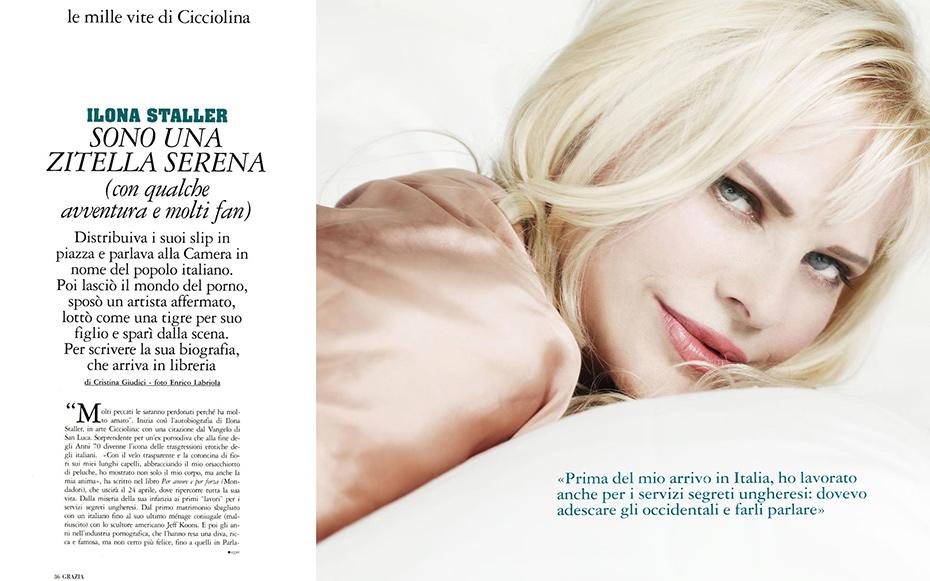 Ilona Staller - Grazia Magazine - by Enrico Labriola